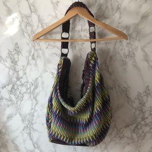 Handbags - Slouchy Large Hobo Bag -Knit Fabric. Boho Chic